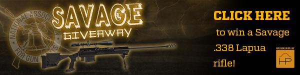 Click here to win this Savage .338 Lapua rifle!