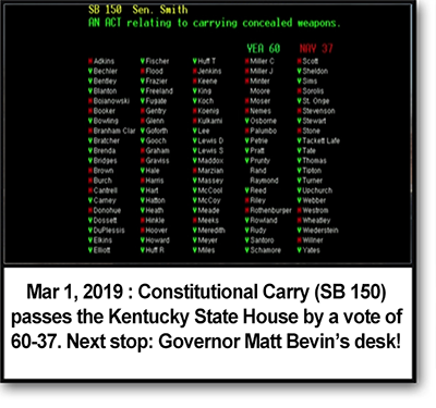 Constitutional Carry passes KY State House 60-37